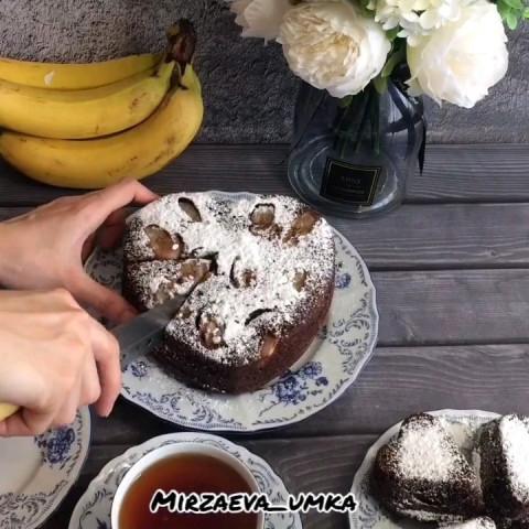 Кекс с бананом