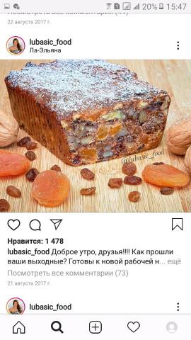 Кекс из сухофруктов