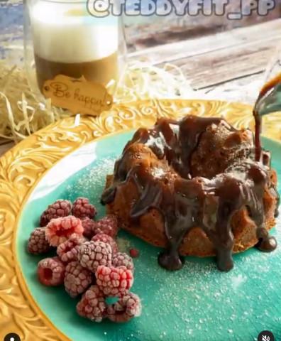 Шоколадный кекс в микроволновке за 10мин