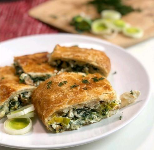 Пирог с рыбой и овощами