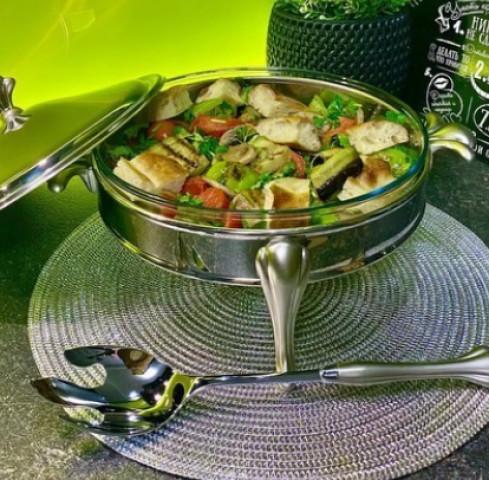 Тёплый салат с баклажаном
