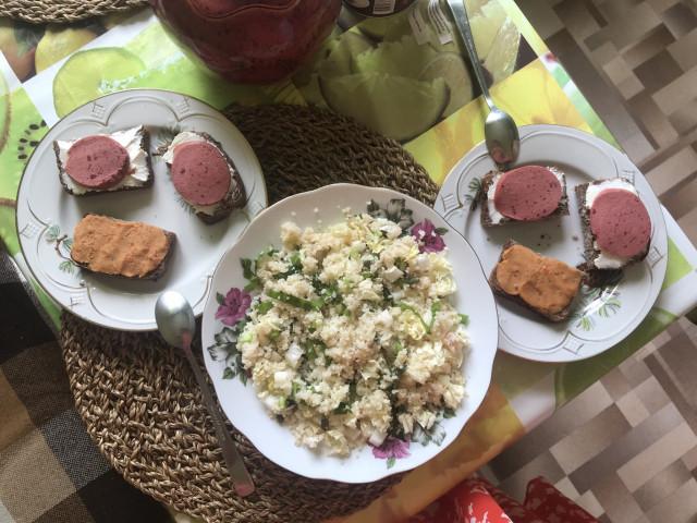 Салат из кускуса и зелени