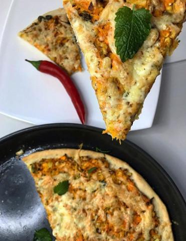 Пицца на тесте без дрожжей