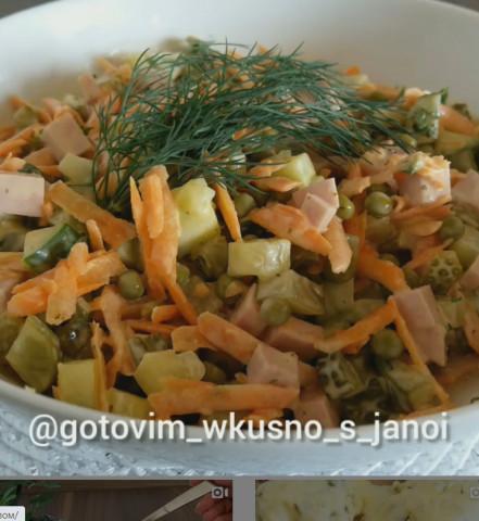 Простой и лёгкий салатик