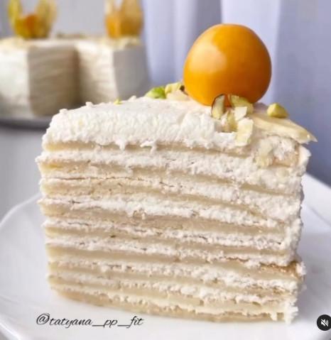 Нежный блинный торт