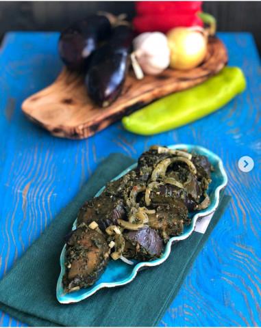 Баклажаны с кинзой и базиликом по-грузински🍆