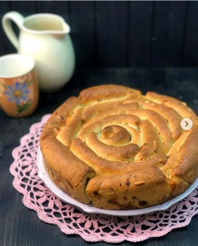 Хлеб «Роза» с сыром и укропом🥯
