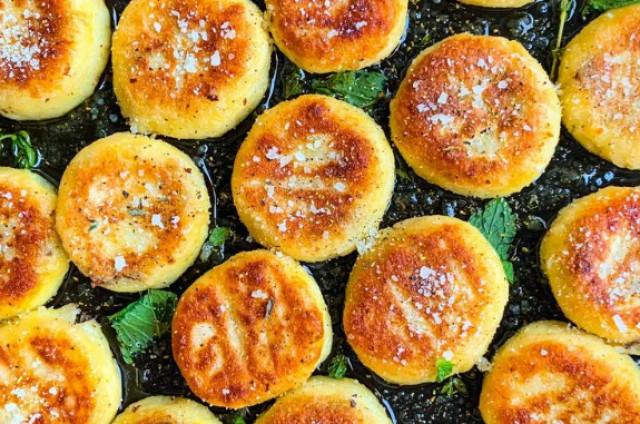 Кнедлики(клецки) с грибами, сыром и тимьяном