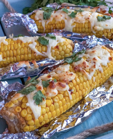 Запечённая кукуруза  с сыром🔥🔥🔥