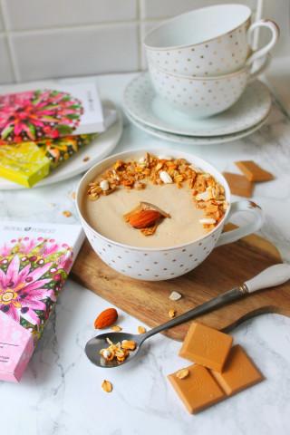 Веганский кокосовый пудинг с белым шоколадом