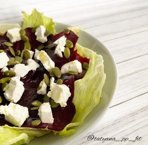 Салат со свёклой и фетой