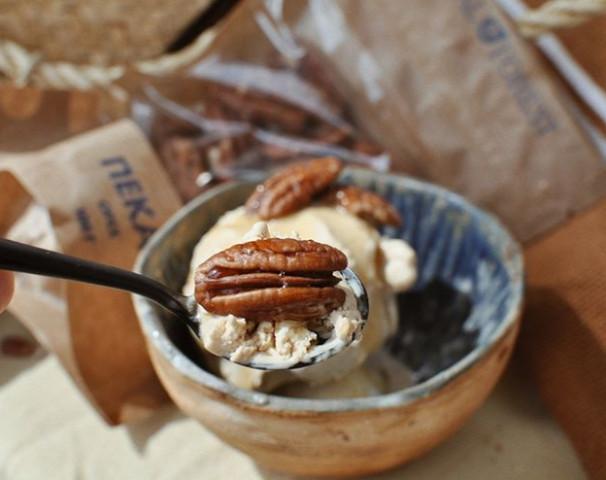 ✔️Банановое мороженое с пеканом