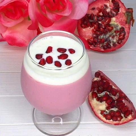 Гранатово - йогуртовый десерт