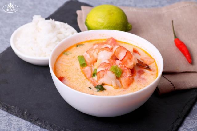 Щи с морепродуктами и рисом