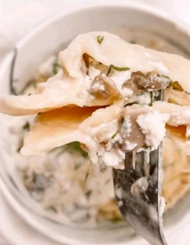 Равиоли с грибами и рикоттой