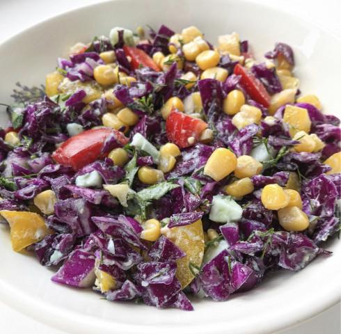 Салат из краснокачанной капусты💜