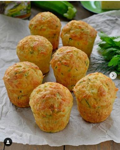 кабачковые кексы с сыром