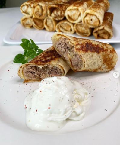 Самые вкусные блинчики с мясом