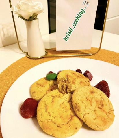 🍪Творожное печенье с яблоками и курагой🍑