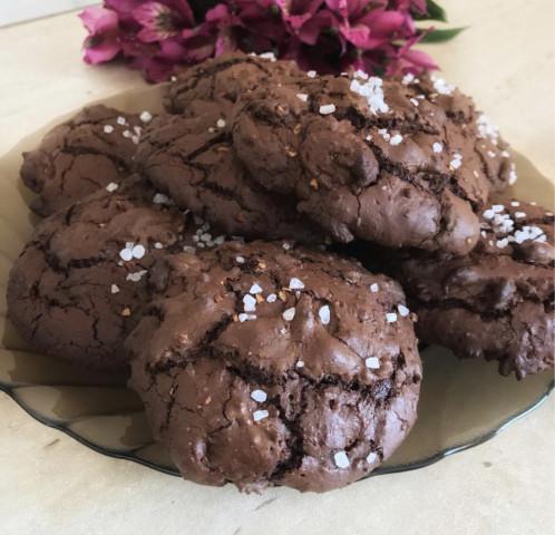 Шоколадное печенье из ржаной муки🍪