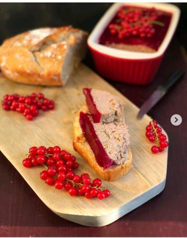 Курино-печеночный паштет с желе из красной смородины🥪