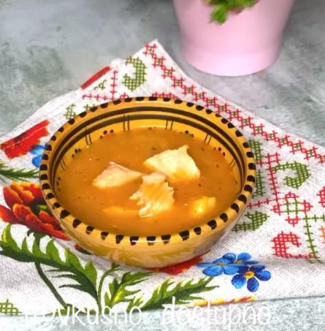 Тыквенный суп-пюре с рыбой