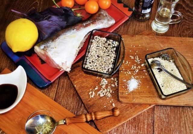 Рыба в гранатовом соусе
