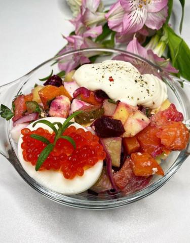 Финский рождественский салат «Росоли»