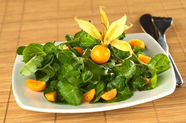 Салат с физалисом