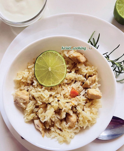 Куриное филе с рисом