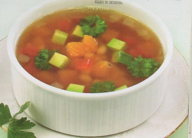 Суп фасолевый с авокадо