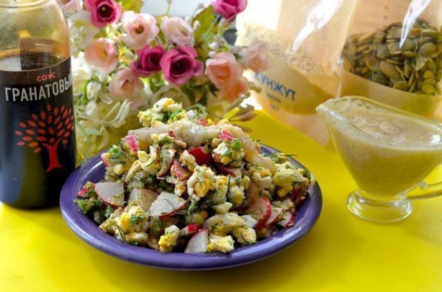 Кунжутная заливка для салатов