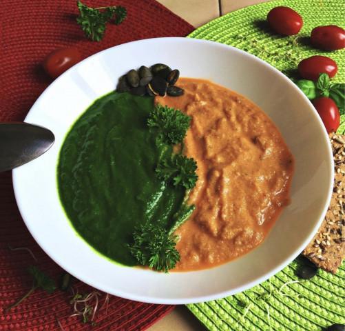 ☘️шпинатно-томатный суп 🍅