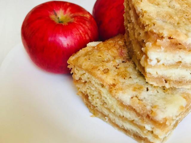 Насыпной яблочный пирог(постный вариант)