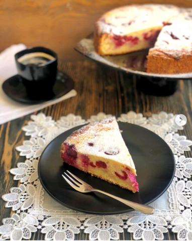 Творожный пирог с ягодами🍒