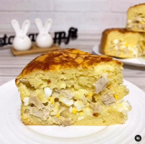 ПП-пирог с индейкой/курицей