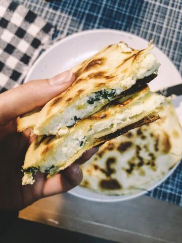 Тортилья с творожно-сырной начинкой