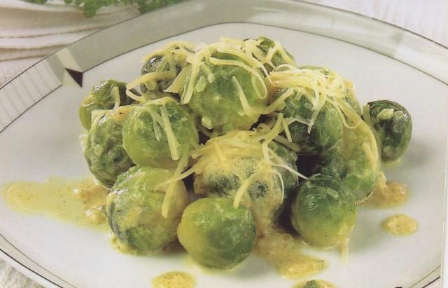 Брюссельская капуста в горчичном соусе