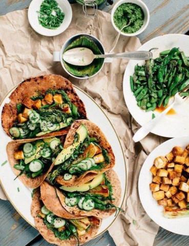 🌱Тушеные овощи в лаваше