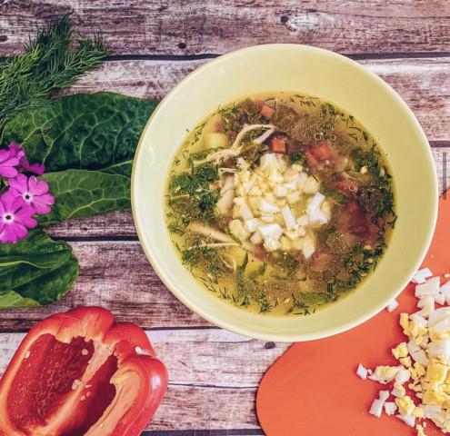 Суп с крапивой и щавелем или зелёный борщ