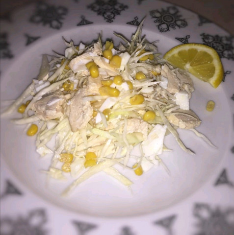 "Салат с кукурузой ""Лёгкий"""