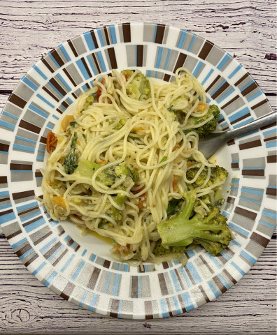 Спагетти с броколли