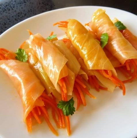 Закуска из капусты и моркови