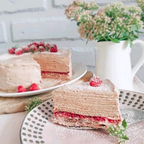 Сливочный блинный торт