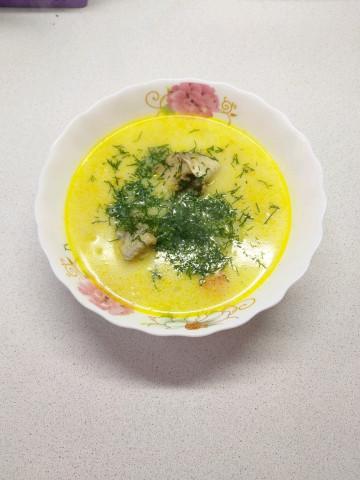 Домашний сливочный рыбный суп