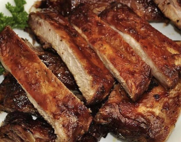 Свиные ребрышки в духовке с соевым соусом