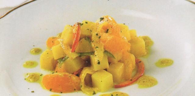 Картофельные карри с абрикосами