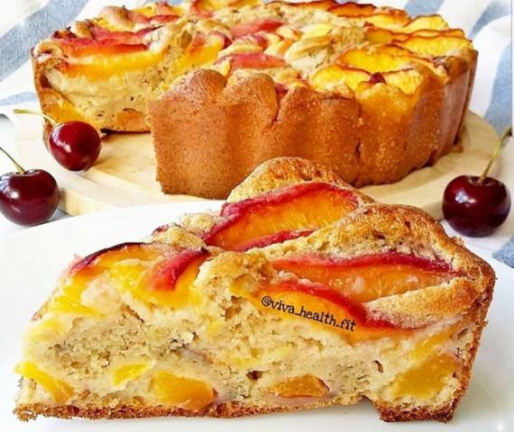 ПП - пирог с персиками