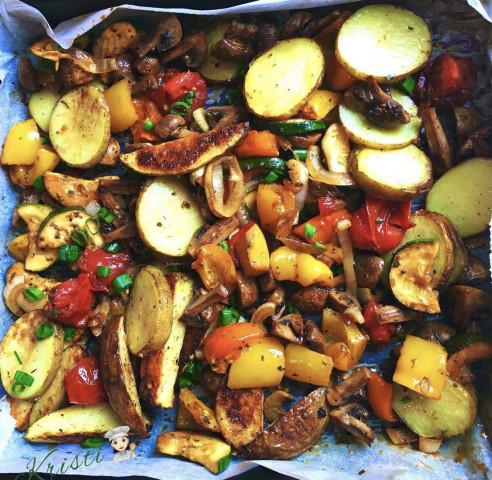 Ароматные овощи в духовке🌶