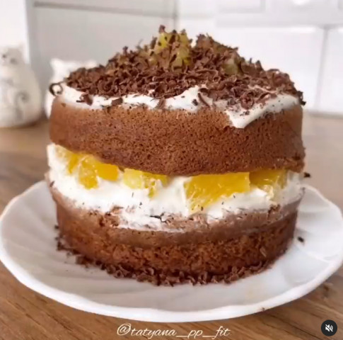Шоколадно-апельсиновый тортик за 15 минут👌